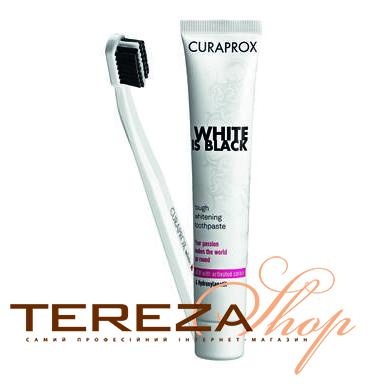 WHITE IS BLACK CURAPROX | Tereza Shop