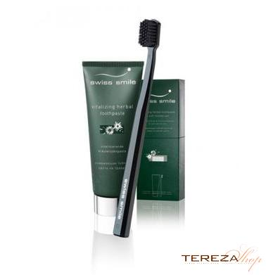 HERBAL TOOTHPASTE & TOOTHBRUSH SWISS SMILE | Tereza Shop